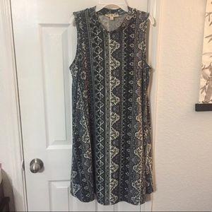 Mock neck dress L